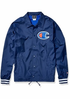 Champion LIFE Men's Satin Coaches Jacket Ribbed Cuff  X-Large
