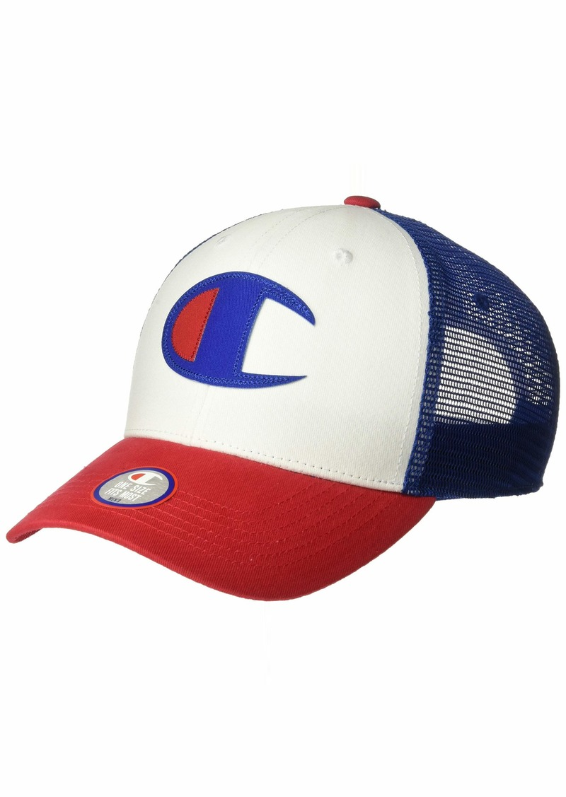 Champion LIFE Men's Twill Mesh Dad Cap Scarlet/White/SURF The Web