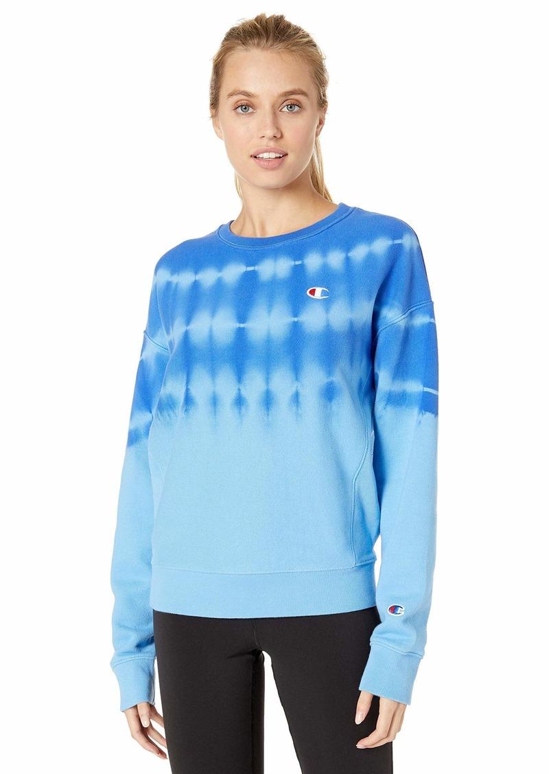 Champion LIFE Streak Dye Women's Reverse Weave Hoodie Active Blue/surf The Web 2XL