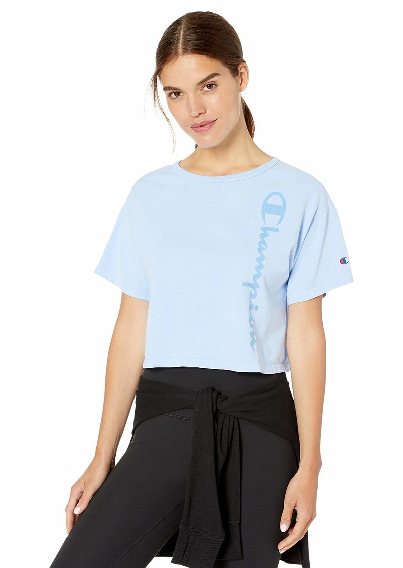 Champion LIFE Women's Cropped Tee-Garment Dyed  M