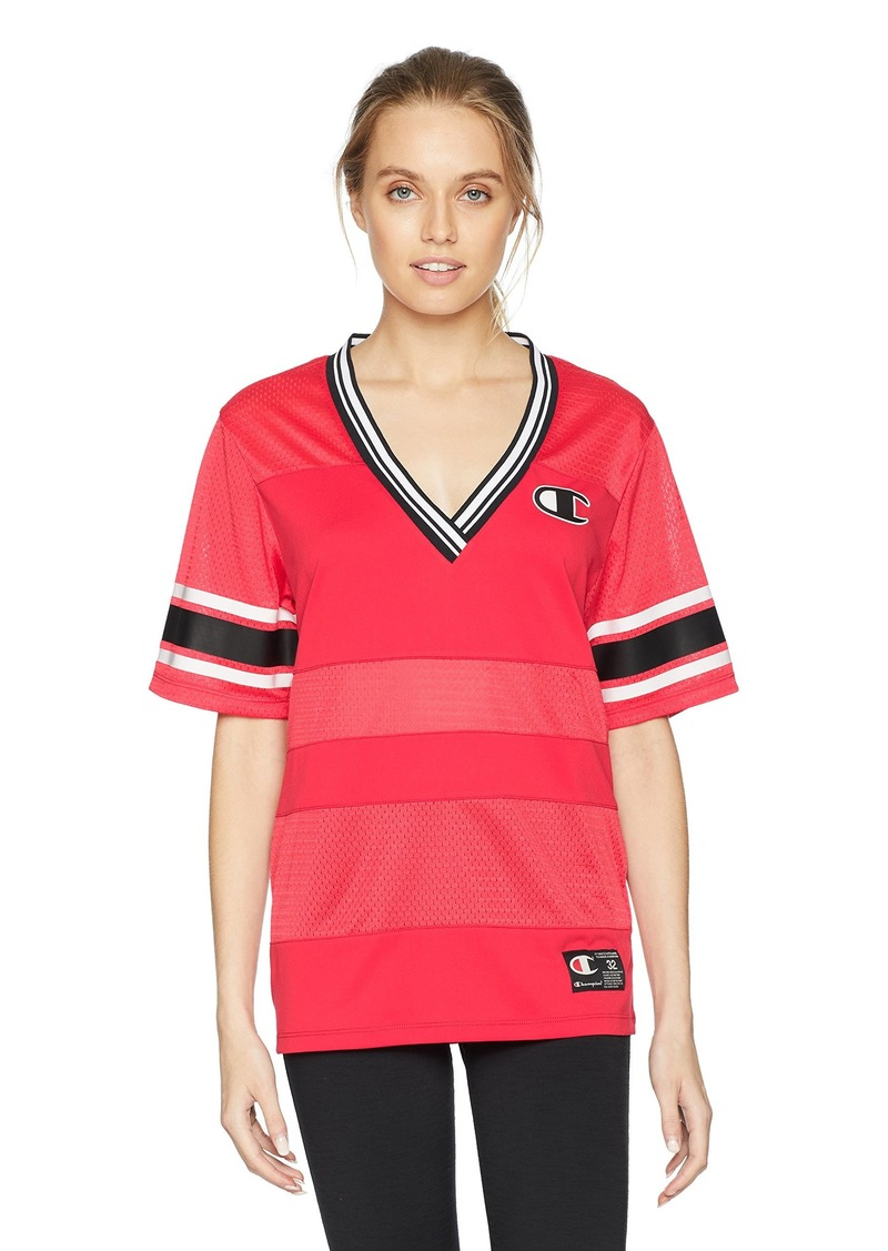 Champion LIFE Women's Extra Long Mesh Tee red Spark XL