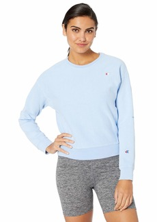Champion LIFE Women's Garment Dyed-Reverse Weave Crew-Graphic  S