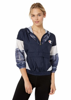 Champion LIFE Women's Nylon Warm-Up Jacket Navy/Logo Denim OVE IMP IND/WH XL