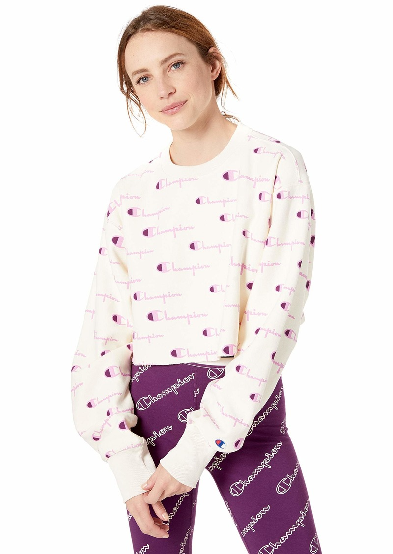 Champion LIFE Women's Reverse Weave Cropped Cut Off Crew  X Large