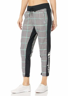 Champion Women's Slim Track Pant AOP black/Exploded houndstooth X SMALL