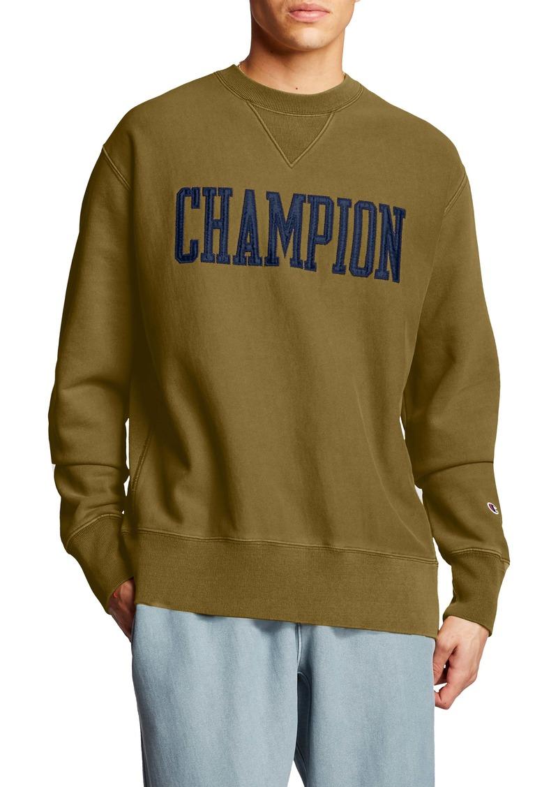 Champion Logo Appliqué Crewneck Sweatshirt