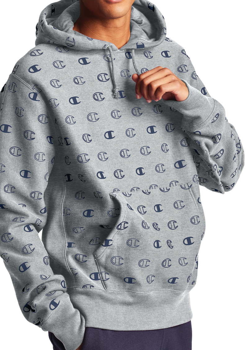 Champion Logo Print Hooded Sweatshirt