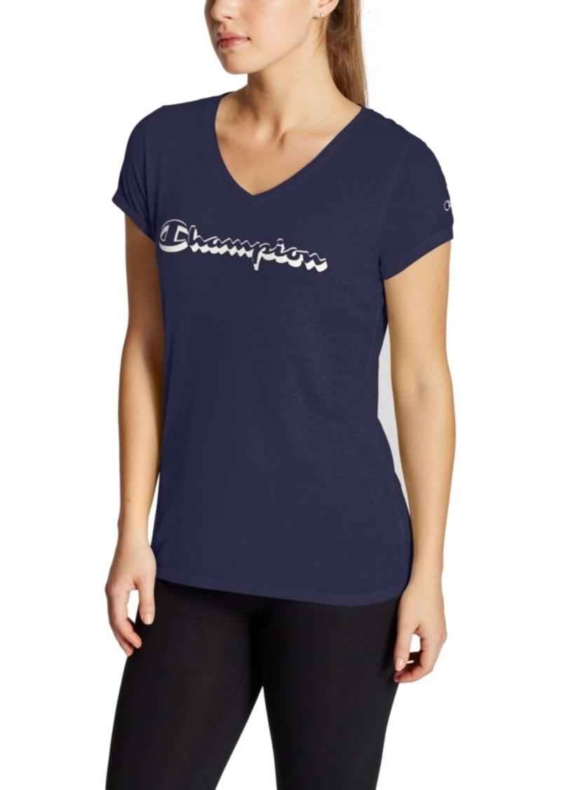 Champion Logo V-Neck T-Shirt