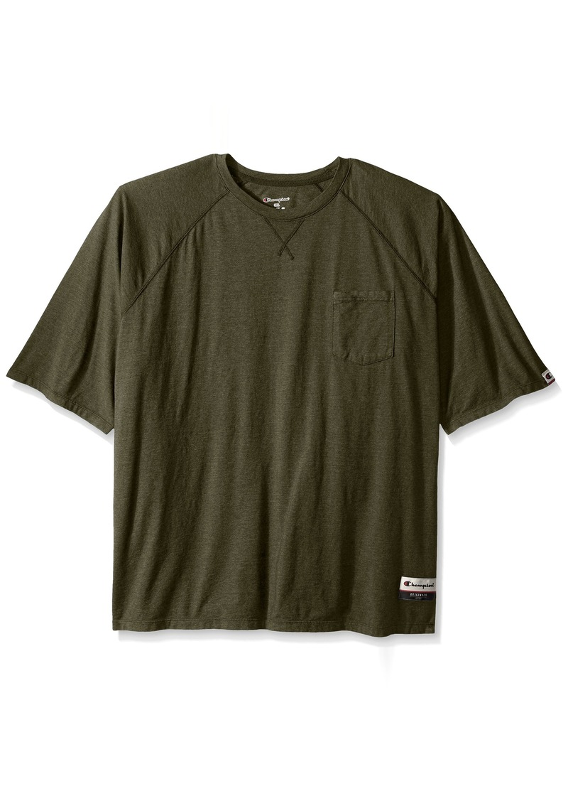 Champion Men's Authentic Originals Soft Wash Short Sleeve Pocket Tee