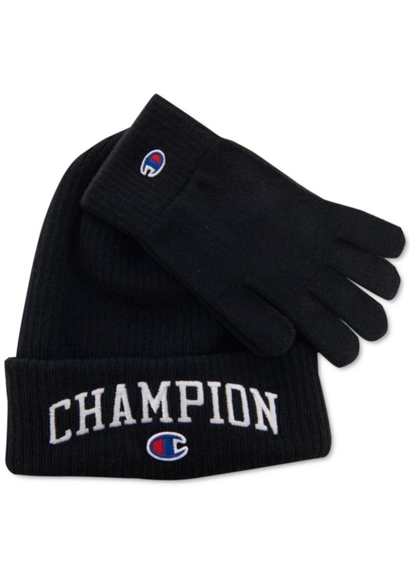 Champion Men's Beanie & Gloves Set, Created for Macy's