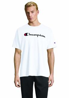 Champion Men's Classic Jersey Script T-Shirt White
