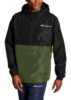 Champion Men's Colorblocked Packable Half-Zip Jacket