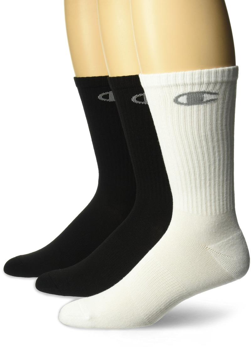 Champion Men's Dyed Crew Socks 3-Pack black assortment