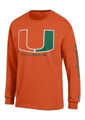 Champion Men's Miami Hurricanes Co-Branded Long Sleeve T-Shirt