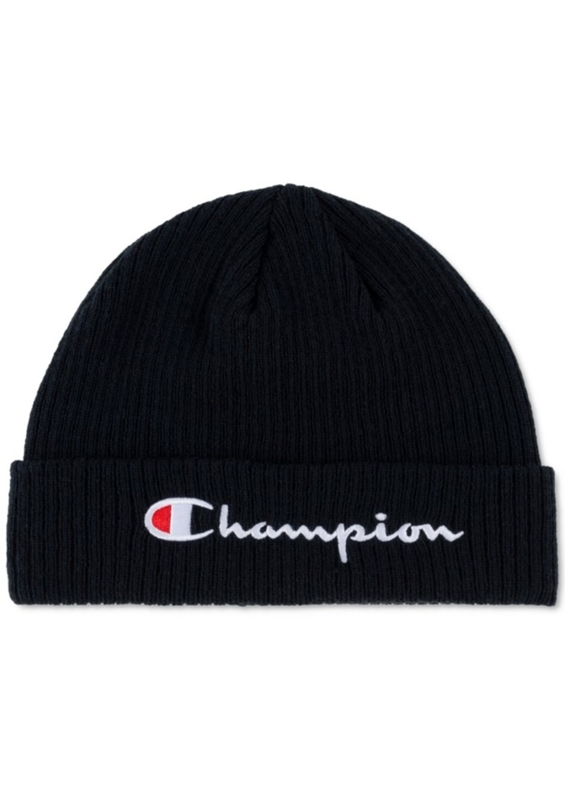 Champion Men's Script-Logo Beanie