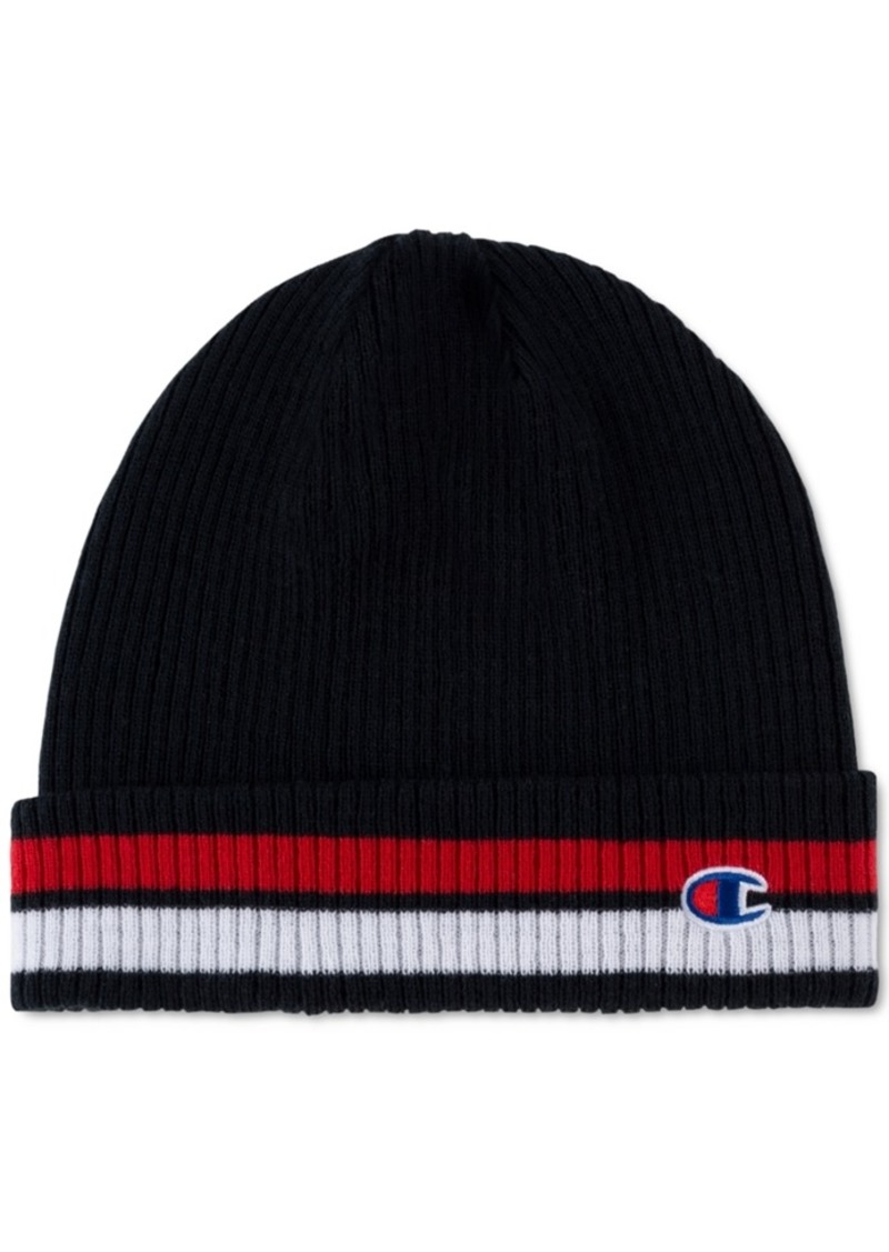 Champion Men's Striped Cuffed Beanie