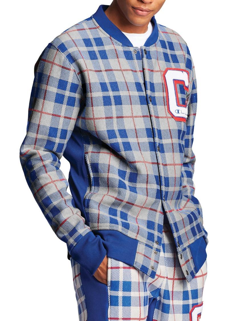 Champion Plaid Baseball Jacket