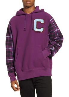 Champion Plaid Print Hooded Sweatshirt