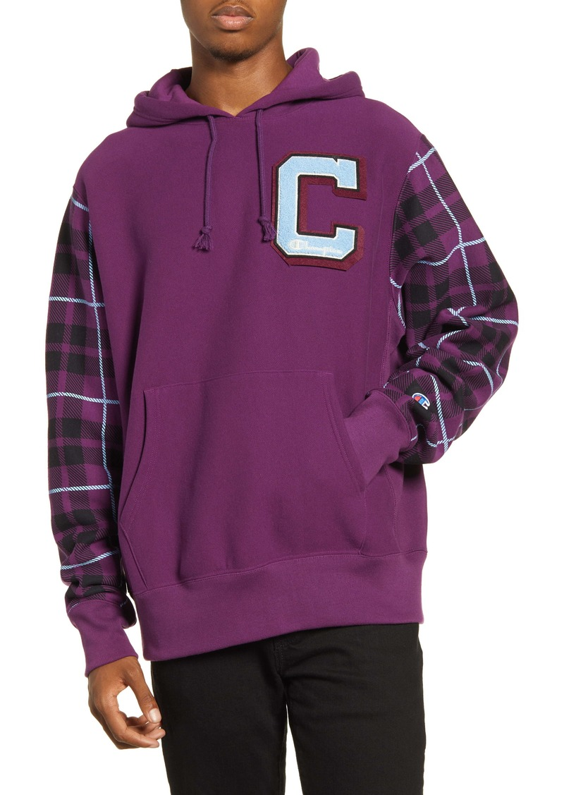 Champion Plaid Print Hooded Sweatshirt