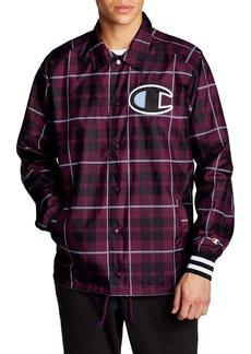 Champion Plaid Satin Coach's Jacket