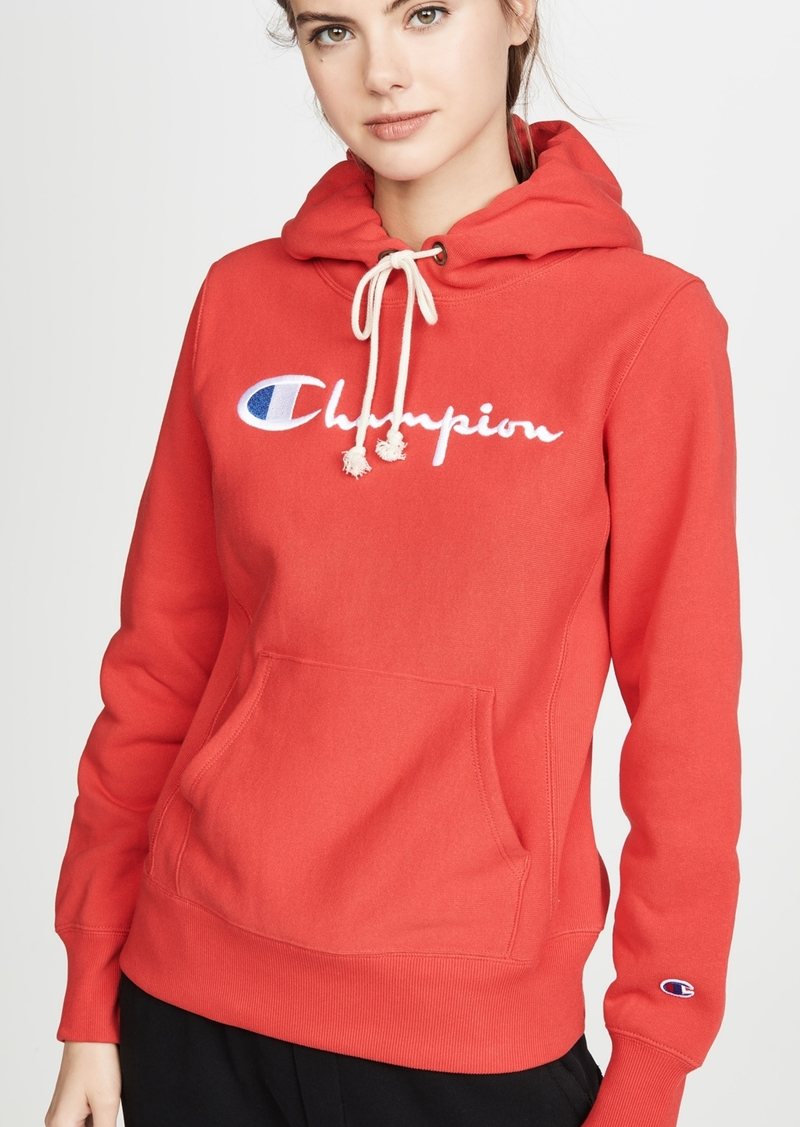 Champion Premium Reverse Weave Big Script Hooded Sweatshirt