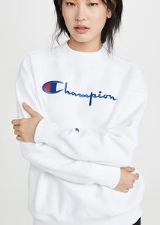 Champion Premium Reverse Weave Big Script Oversize Crew Neck Sweatshirt