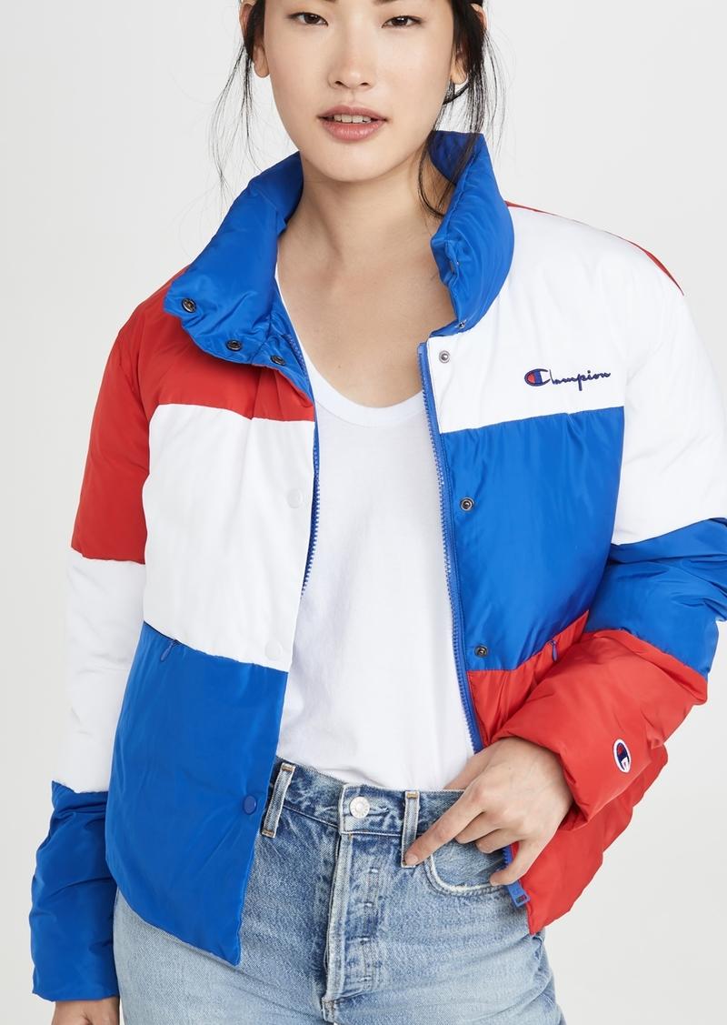Champion Premium Reverse Weave Colorblock Puffer Jacket