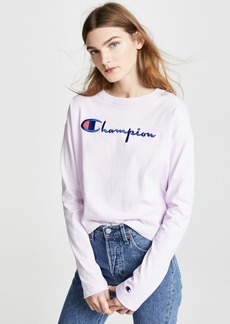 Champion Premium Reverse Weave Crew Neck Crop Top