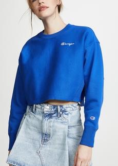 Champion Premium Reverse Weave Cropped Crew Neck Sweatshirt