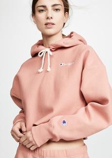 Champion Premium Reverse Weave Cropped Hooded Sweatshirt