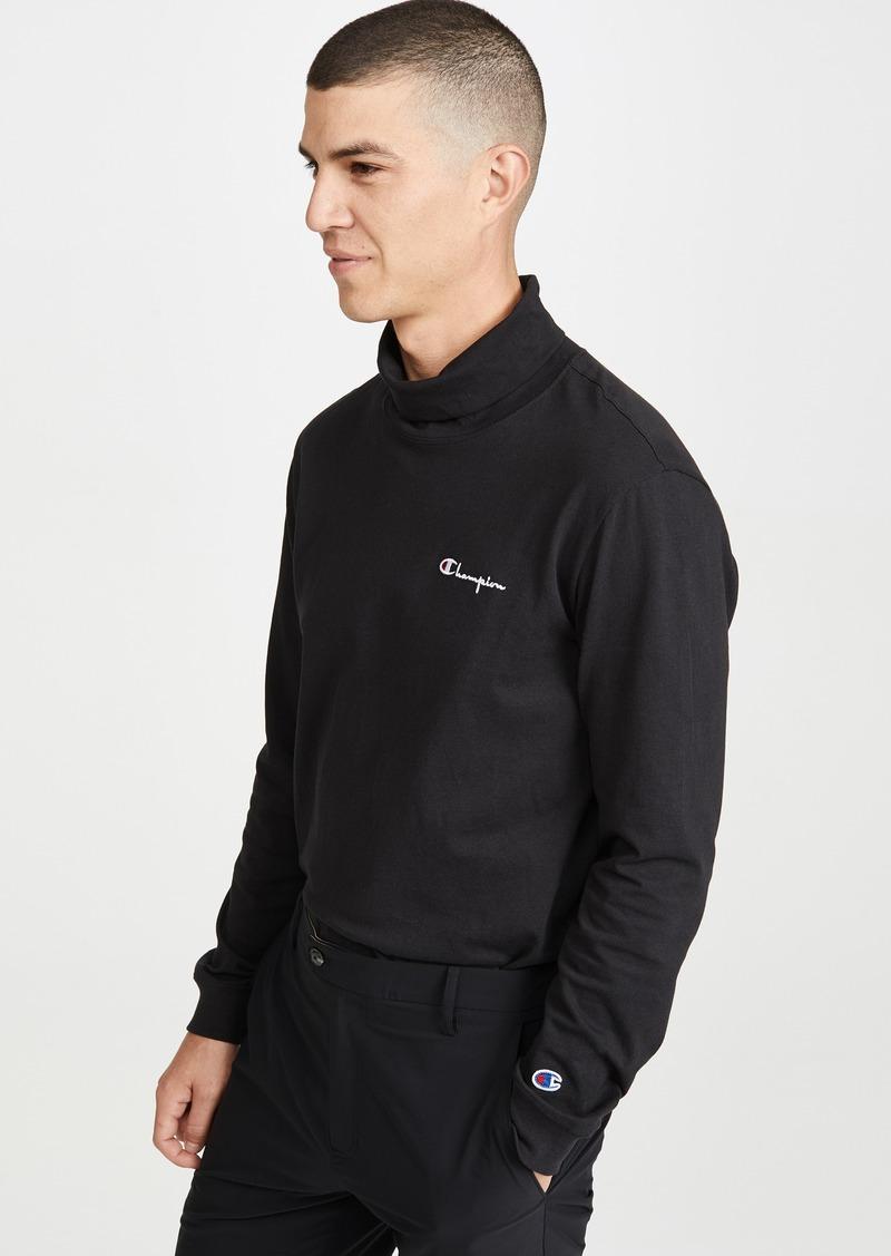 Champion Premium Reverse Weave Mock Neck Long Sleeve T-Shirt