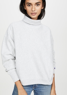 Champion Premium Reverse Weave Sleeve Logo High Neck Sweatshirt