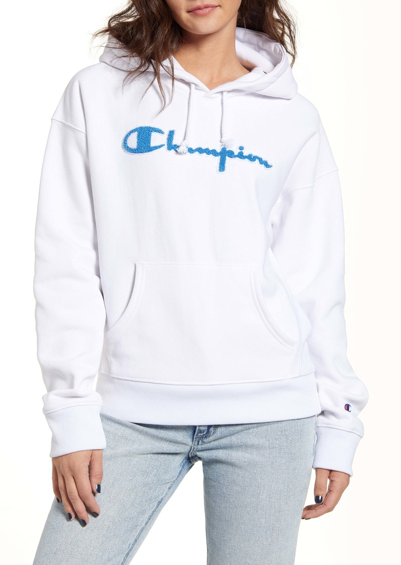Champion Reverse Weave® Chenille Logo Hoodie