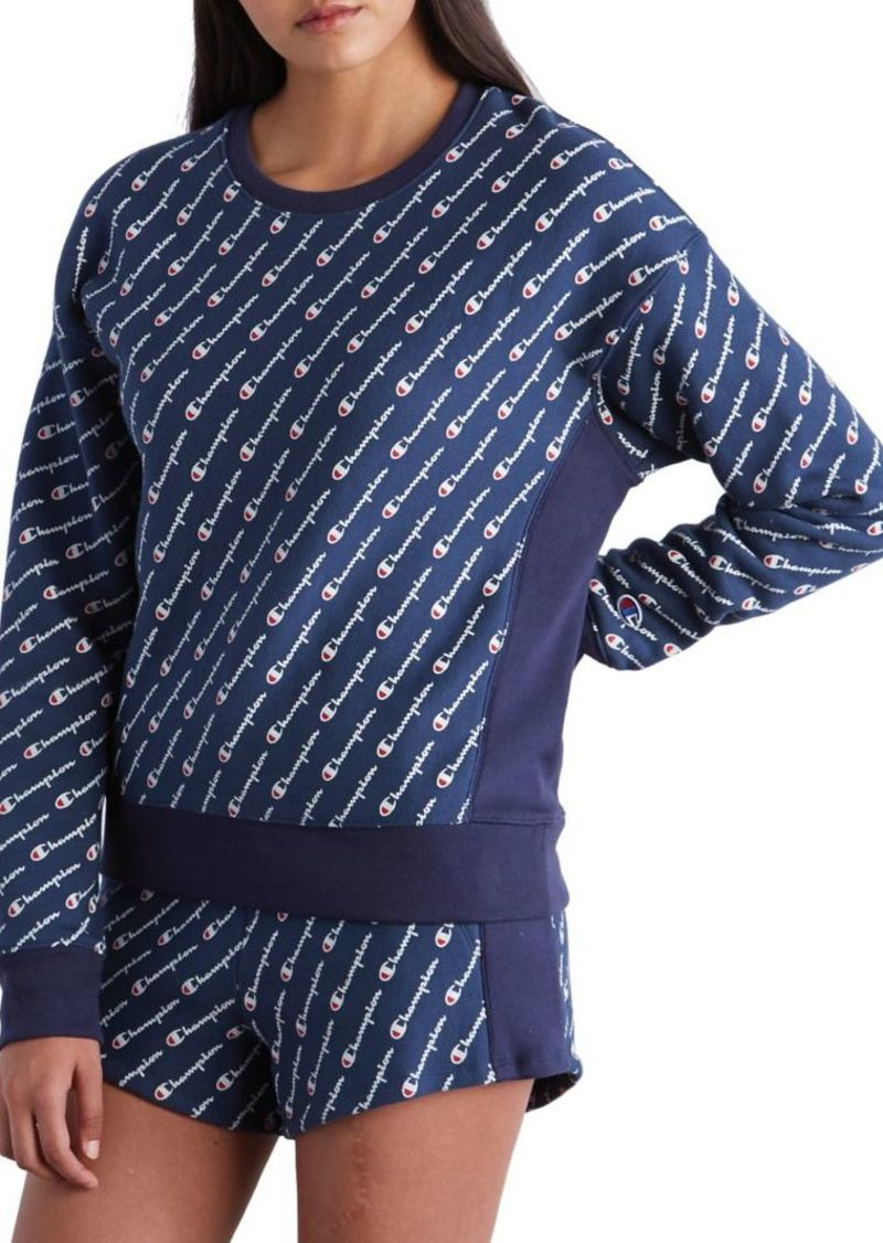 Champion Reverse Weave Printed Sweatshirt