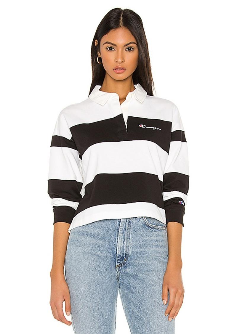 Champion Small Script Striped Polo Shirt