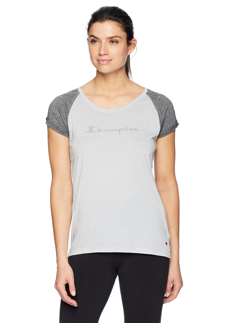 Champion Women's Authentic Wash Fashion Tee Oxford Grey Granite Heather M