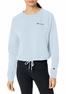 Champion Women's Campus Cropped Fleece Sweatshirt Left Chest Script
