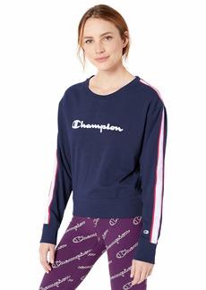 Champion Women's Heritage Crew Sweatshirt with Taping  X Small