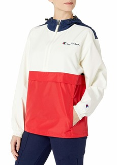 Champion Womens Packable Jacket /Chalk White/Scarlet LG