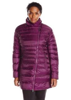 Champion Women's Plus-Size 3/4 Lightweight Puffer Coat