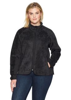 Champion Women's Plus Size Lux Faux Fur Sherpa Hybrid Jacket