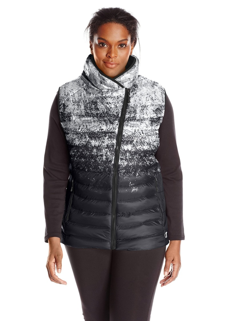 Champion Women's Plus Size Puffer Asymmetric Vest