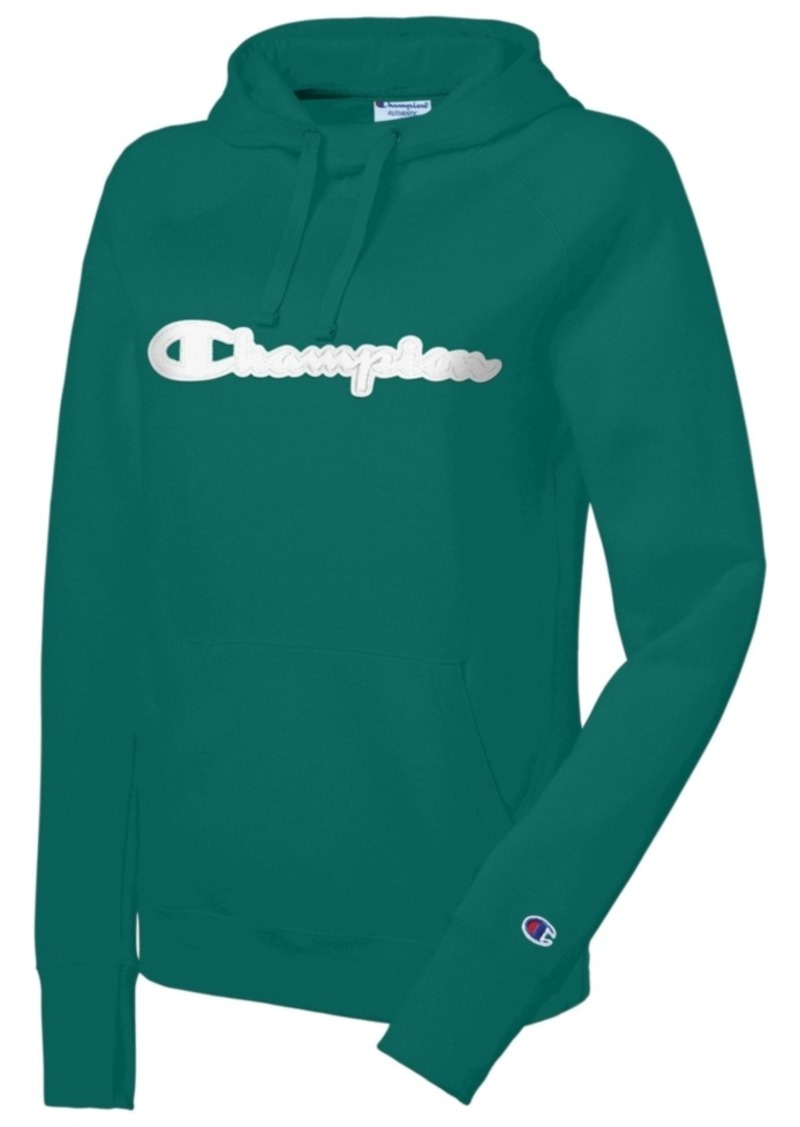 Champion Women's Powerblend Cotton Logo Hoodie