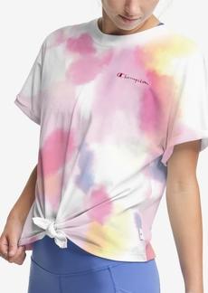 Champion Women's Tie-Dye Tie-Hem T-Shirt