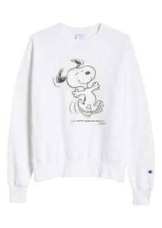 Champion x Peanuts® Dancing Snoopy Graphic Sweatshirt (Nordstrom Exclusive)