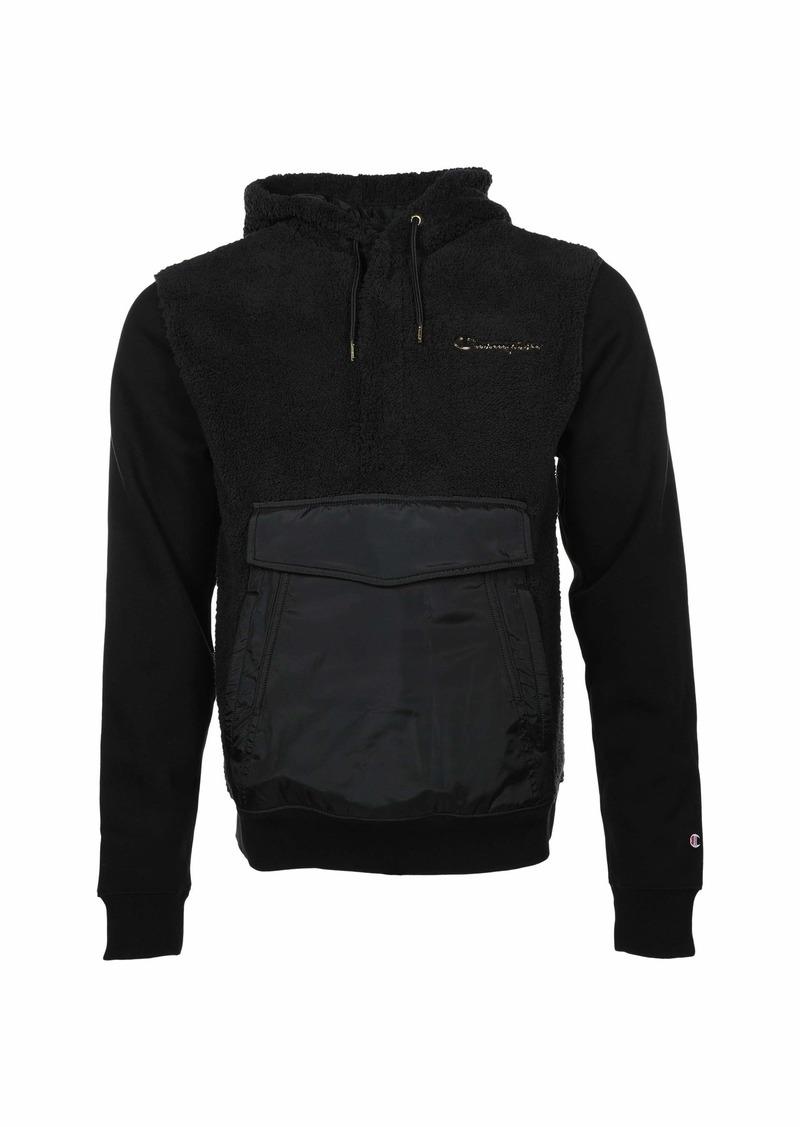 Champion Faux Fur Pullover Hood w/ Super Fleece & Woven