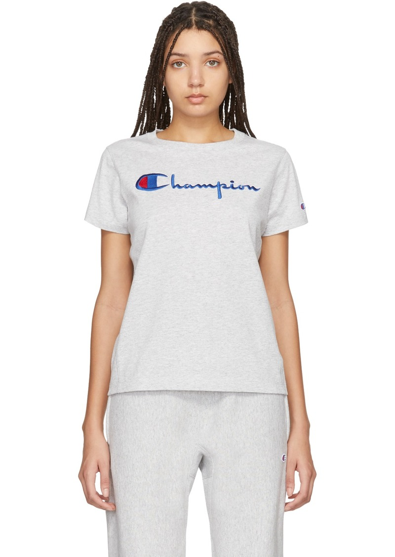 Champion Grey Big Script T-Shirt
