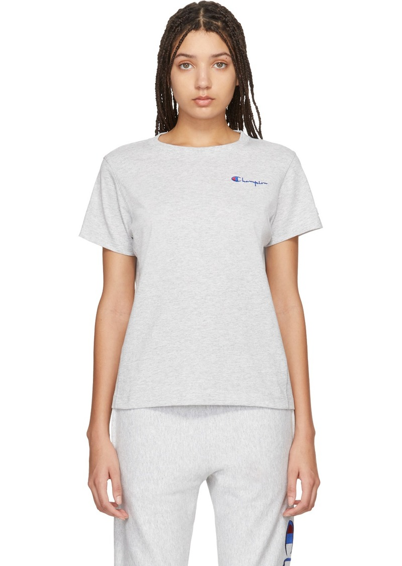 Champion Grey Small Script T-Shirt