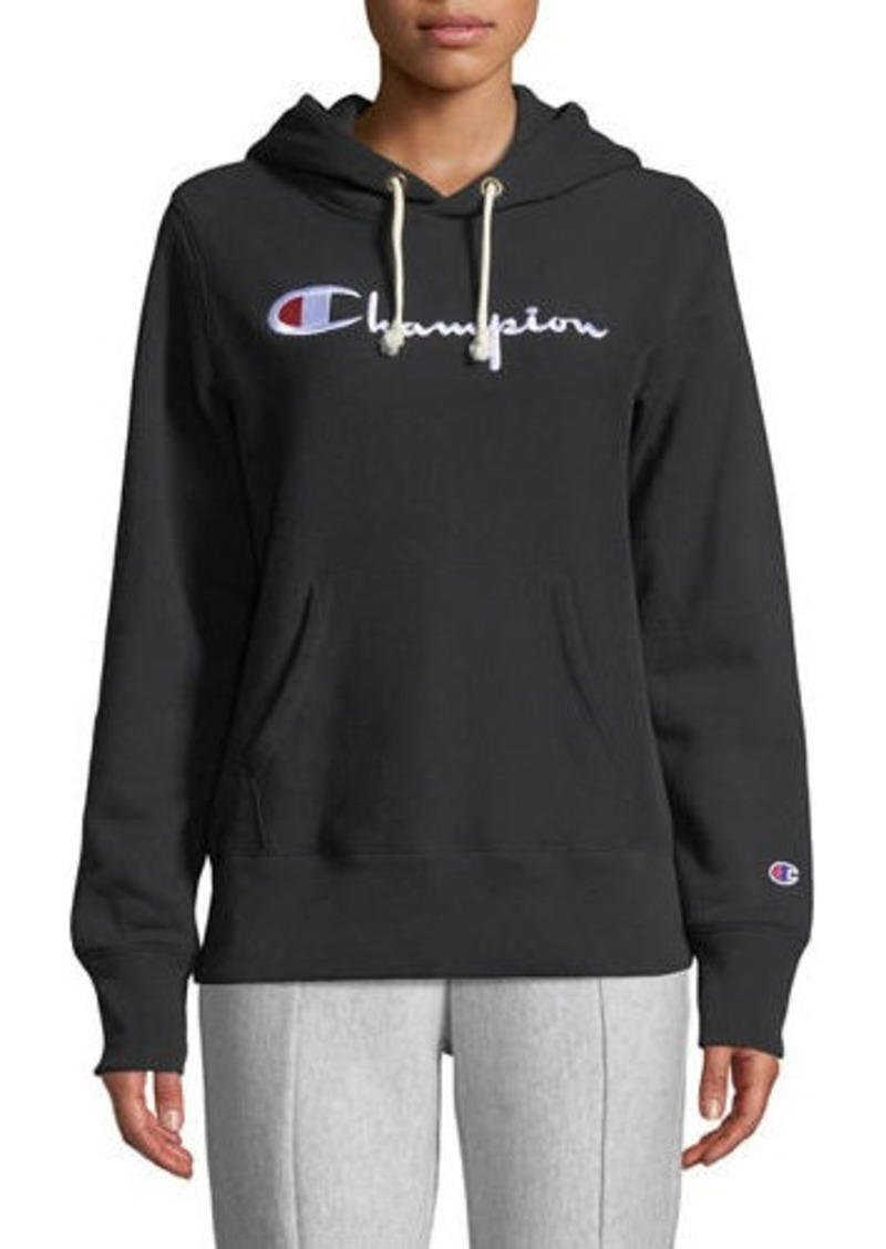 Champion Hooded Logo Pullover Sweatshirt