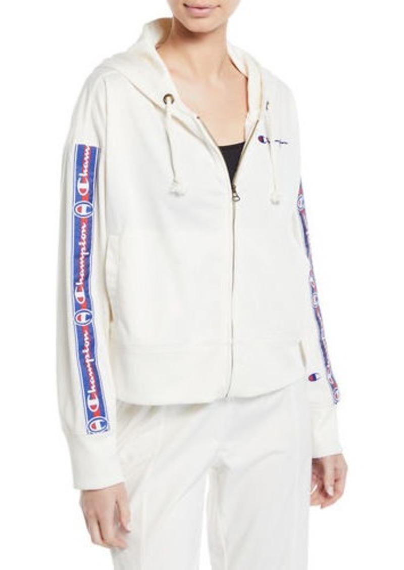 Champion Hooded Logo Zip-Front Track Jacket